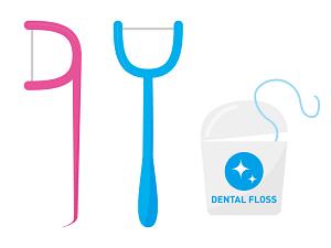 歯間ブラシ・デンタルフロスの使用